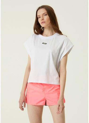 MSGM MSGM  Bisiklet Yaka T-shirt 101602574 Beyaz